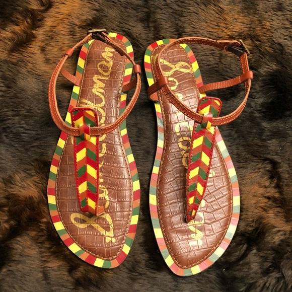 Sam Edelman Shoes - Sam Edelman Gigi Tribal Print Leather Sandal